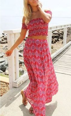 Basic Hippie Maxi Two-Piece