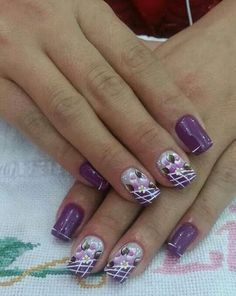 In love with the color and design Fingernail Designs, Diy Nail Designs, Nail Designs Spring, Sassy Nails, Trendy Nails, Fun Nails, Sparkle French Manicure, Nail Ink, Nails First