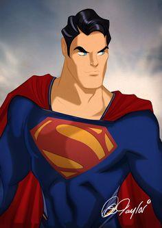 MAN OF STEEL Superman by Des Taylor by DESPOP.deviantart.com on @deviantART