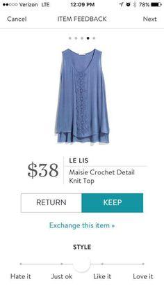 Stitch Fix LE LIS Maisie Crochet Detail Knit Top