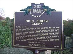 Historical Marker - High Bridge Glens near Gorge Metro Park, Cuyahoga Falls, OH