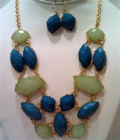 $30 Turquoise & Jade Necklace Set