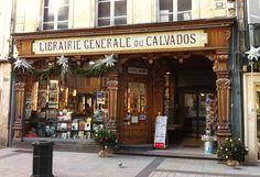Librairie Guillaume rue St Pierre Caen. Librairie générale du Calvados.