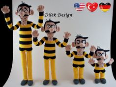 The Dalton Brothers - Amigurumi Crochet Pattern - The Daltons Crochet - The Dalton Brothers Amigurumi - Dalton Crochet Pattern - Daltons PDF