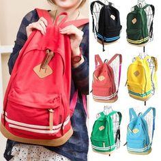 las mujeres de impresión mochila de lona del hombro la bolsa bolsa de la escuela al aire libre de viaje bolsa de bolsa mochila mochila 7 colores