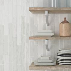 Aria Sage Gloss Tile Tile Stores, Beach Bathrooms, Tiles Online, Laminate Flooring, Outdoor Walls, Porcelain Tile, Wall Tiles, Floating Shelves, Sage