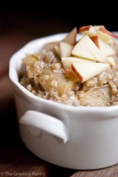 Apple Pie Oatmeal | 17 Delicious Recipes That May Help Lower Your Cholesterol