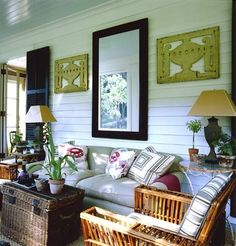 would work well in a small sun porch, cozy and bright!
