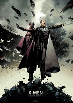 x men days of future past by magneto Michael Fassbender & Ian McKellens Magneto Highlighted In Spectacular Illustrated X Men: Days Of Future Past Poster