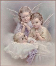 desde mi niñez, esta es la imagen que guarda mi mente de nuestros angelitos de la guarda
