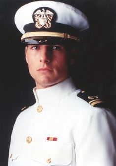 Tom Cruise in a uniform - this would make any girl join the Navy