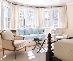 House of Turquoise: Taylor Interior Design Nice bay window...I have a bay window I'm my kitchen I need to redress something like this