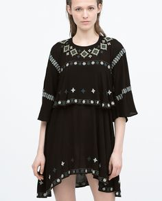EMBROIDERED LAYERed DRESS - Dresses - WOMAN | ZARA United States