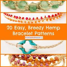 20 Easy, Breezy Hemp Bracelet Patterns | AllFreeJewelryMaking.com