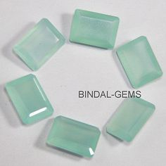 Chalcedony 110791: 10 Pcs Wholesale Lot Aqua Chalcedony 12X16 Mm Octagon Faceted Cut Loose Gemstone -> BUY IT NOW ONLY: $60.49 on eBay!