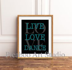 Live love dance, dance quotes, girls inspirational quote art, motivational art, girls room decor, custom colors Inspirational Quotes For Girls, Quotes Girls, Love Dance, Girl Bedroom Walls, Dance Quotes, Kids Room Art, Quote Art, Childrens Room Decor, Live Love