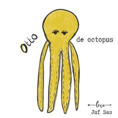 Otto de octopus handmade by juf Sas met gratis patroon Otto de octopus handmade by juf Sas met gratis patroon Octopus, Love, Tweety, Giraffe, Disney Characters, Handmade, Crafts, Crochet Patterns, Baby