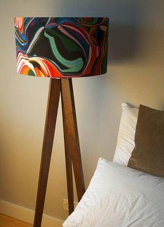 retro pop designer drum lampshade by lampara | notonthehighstreet.com