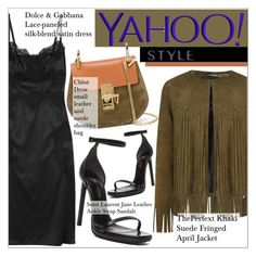 """Yahoo Style NYFW Trend: Fringe"" by martso ❤ liked on Polyvore featuring ThePerfext, Dolce&Gabbana, Yves Saint Laurent, Chloé, contestentry, PolyvoreNYFW and yahoostyle"