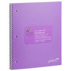 1 Subject Spiral Notebook, College Ruled - Purple
