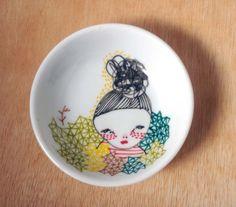hand drawn plate/small bowl by prettylittlethieves on Etsy https://www.etsy.com/listing/113261748/hand-drawn-platesmall-bowl