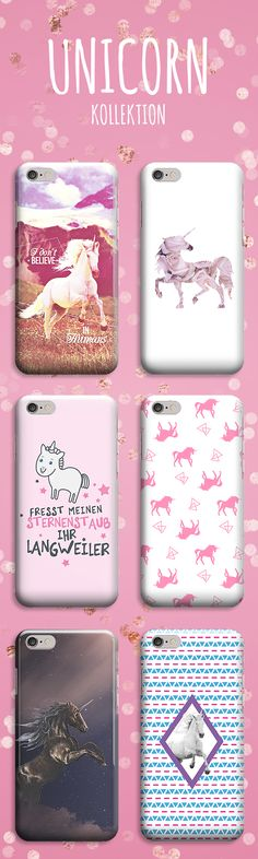 We love our unicorn phone cases! II Wir lieben unsere Einhorn Handyhüllen!
