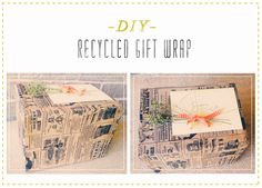 Project DIY: Recycled Gift Wrap