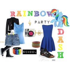 """""""Rainbow Dash (My Little Pony: Friendship is Magic)"""" by colorsgalore on Polyvore"""