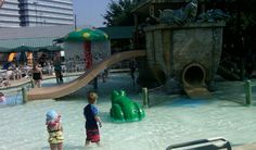 Noah's Ark Pool is great for little kids.  Shallow water, slides, fountains and more!