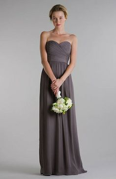 i like the grey for bridesmaids dresses!