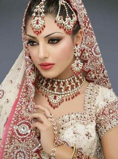 Wedding Dress Collections: Indian Bridal makeup and jewellery design - Neeshu...