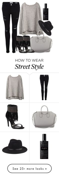 """street style"" by alexiszadeh on Polyvore featuring Frame Denim, Givenchy, rag & bone, Schutz and Alaïa"