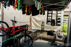 This is my vote for the best use of space and resources. Work station gear storage and laundry all in a 5x10 space.