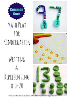 Hands-on learning activities for kindergarten math: Writing and Representing Numbers 0-20