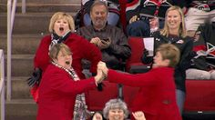 dancing hockey nhl fans ladies carolina hurricanes #gif from #giphy