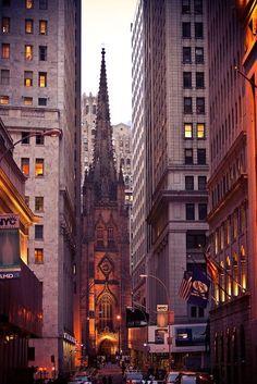 New York - Trinity Church Wall Street (Alexander Hamilton is buried in the cemetery at Trinity Church)