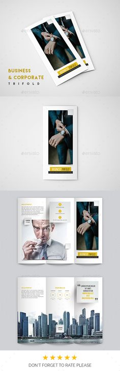 #Business Trifold Brochure - #Corporate #Brochures Download here: https://graphicriver.net/item/business-trifold-brochure/19314597?ref=alena994