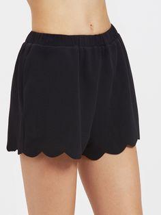 Shorts festonné élas