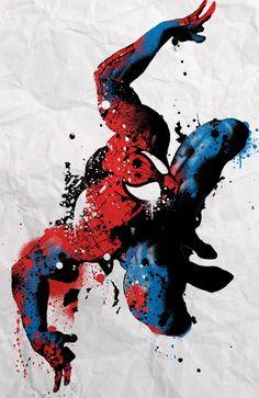spray paint spiderman