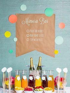 Mimosa Bar - Low-Key Backyard Party Ideas  - Photos