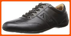 Armani Jeans Men's Dress SN Fashion Sneaker, Black, 41 EU/8 M US - Mens world (*Amazon Partner-Link)