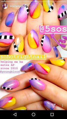 Youngblood 5sos, 5sos Art, Concert Makeup, 5sos Nails, Nailart, 5sos Pictures, Nail Tutorials, 5 Seconds Of Summer, Nail Inspo