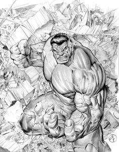 Hulk # 1, variant cover recreation Comic Art