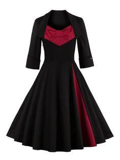 GET $50 NOW | Join RoseGal: Get YOUR $50 NOW!http://www.rosegal.com/vintage-dresses/retro-big-bow-design-color-690849.html?seid=8344645rg690849