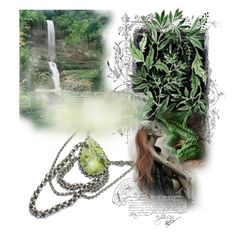 """""""Dragon land"""" by landoflaces ❤ liked on Polyvore featuring art, GREEN, fantasy and dragon"""