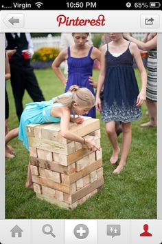 Are you looking for the most entertaining wedding reception games? Check out the top fun reception games to have the most cherishable time of your life. Diy Reception Decorations, Wedding Reception Games, Jenga Wedding, Reception Ideas, Wedding Party Games, Trendy Wedding, Our Wedding, Dream Wedding, Wedding Advice