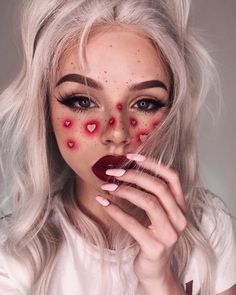 scary makeup looks make up * scary makeup looks & scary makeup looks easy & scary makeup looks halloween ideas & scary makeup looks make up Makeup Trends, Makeup Inspo, Makeup Inspiration, Makeup Ideas, Nail Inspo, Makeup Tutorials, Style Inspiration, Helloween Make Up, Creative Makeup Looks
