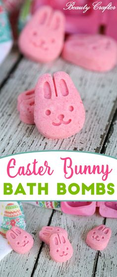 Easter Bath Bombs: Easter Bunny Craft - kids will love these cute bath bombs & they are so easy to make!