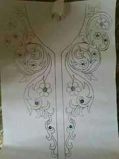 neck line art work এর ছবির ফলাফল Border Embroidery Designs, Kurti Embroidery Design, Tambour Embroidery, Bead Embroidery Patterns, Embroidery Fashion, Embroidery Dress, Beaded Embroidery, Embroidery Stitches, Machine Embroidery