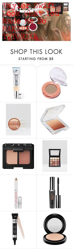 """Taylor Swift - Look What You Made Me Do MAKEUP TUTORIAL"" by oroartye-1 on Polyvore featuring beauty, It Cosmetics, Rimmel, Physicians Formula, NARS Cosmetics, NYX, Benefit, MAC Cosmetics and BHCosmetics"
